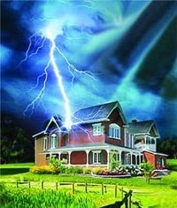 Молниезащита зданий, молниеприемник г.Бердск