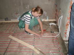 Монтаж электрического теплого пола в Бердске. электрический теплый пол